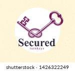 knotted key allegorical symbol... | Shutterstock .eps vector #1426322249
