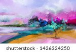 abstract colorful oil painting... | Shutterstock . vector #1426324250