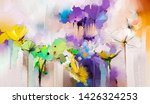 abstract colorful oil  acrylic... | Shutterstock . vector #1426324253