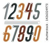 trendy vector numerals... | Shutterstock .eps vector #1426324973