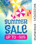 summer sale background. warm...   Shutterstock .eps vector #1426332146