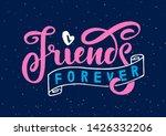 friends forever on dark blue... | Shutterstock .eps vector #1426332206