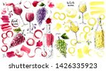 hand drawn ink and watercolor... | Shutterstock .eps vector #1426335923
