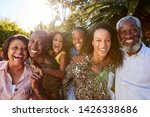outdoor portrait of multi... | Shutterstock . vector #1426338686