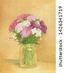 flowers. garden phlox. oil... | Shutterstock . vector #1426341719