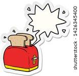 cartoon toaster toasting bread... | Shutterstock .eps vector #1426345400