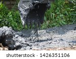 excavator use for dirty muck in ... | Shutterstock . vector #1426351106