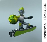 green robot   3d illustration   Shutterstock . vector #1426358333