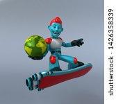 red robot   3d illustration   Shutterstock . vector #1426358339
