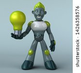 green robot   3d illustration   Shutterstock . vector #1426358576