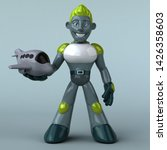 green robot   3d illustration   Shutterstock . vector #1426358603