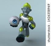 green robot   3d illustration   Shutterstock . vector #1426358969