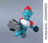 red robot   3d illustration   Shutterstock . vector #1426359023