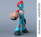 red robot   3d illustration   Shutterstock . vector #1426359230