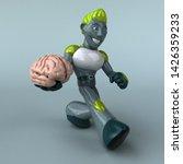 green robot   3d illustration   Shutterstock . vector #1426359233
