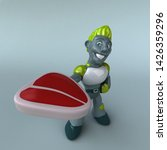 green robot   3d illustration   Shutterstock . vector #1426359296