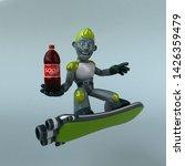 green robot   3d illustration   Shutterstock . vector #1426359479