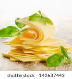 Slices Of Cheese With Fresh...