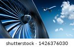 Turbine Of Airplane With...
