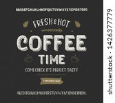 """coffee time"". vintage handmade ... | Shutterstock .eps vector #1426377779"
