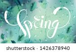 green nature background with... | Shutterstock .eps vector #1426378940