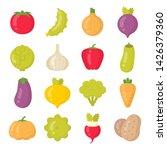 bright vegetables isolated... | Shutterstock .eps vector #1426379360