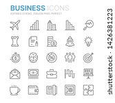 collection of business line... | Shutterstock .eps vector #1426381223