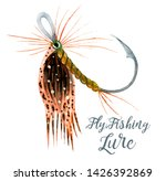 Fly Fishing Lure With Feathers. ...