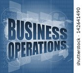 business operations word on... | Shutterstock . vector #142641490