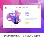 flat illustration help chat  ...