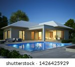 3d Rendering Of A Bungalow Wit...