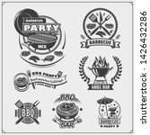 bbq and grill labels set.... | Shutterstock .eps vector #1426432286