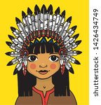 a young native american indian... | Shutterstock .eps vector #1426434749