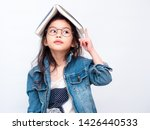 Asian little cute girl wearing...