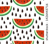 watermelon seamless pattern.... | Shutterstock .eps vector #1426443716