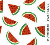 watermelon seamless pattern.... | Shutterstock .eps vector #1426443719