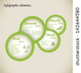 infographic element with green... | Shutterstock .eps vector #142644580