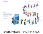 queue at the atm. business... | Shutterstock .eps vector #1426446266