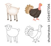vector design of breeding and... | Shutterstock .eps vector #1426457306