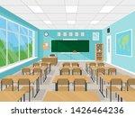 empty school classroom interior ...   Shutterstock .eps vector #1426464236
