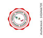 vintage mexico travel stamp...