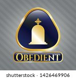 gold badge or emblem with... | Shutterstock .eps vector #1426469906