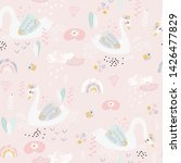 seamless pattern with cute... | Shutterstock .eps vector #1426477829