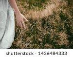 stylish girl in linen dress... | Shutterstock . vector #1426484333