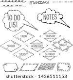 set of bullet journal hand... | Shutterstock .eps vector #1426511153