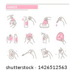 hands with different cosmetic... | Shutterstock .eps vector #1426512563