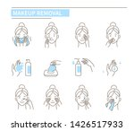 facial make up removal concept. ... | Shutterstock .eps vector #1426517933