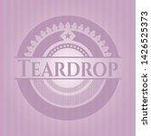 teardrop pink emblem. vintage....   Shutterstock .eps vector #1426525373