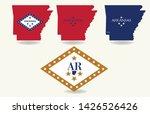 arkansas state map logo design... | Shutterstock .eps vector #1426526426