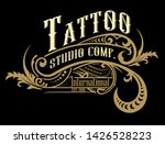 vintage logo with floral... | Shutterstock .eps vector #1426528223